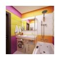 На площади в 3.6 кв. метра разместилось все, что нужно для комфортных душевых процедур, утреннего умывания, стирки, вечернего релакса в ванной