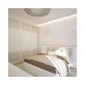 Чтобы спальня не казалась скучной, были добавлены некоторые оригинальные декоративные решения