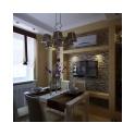 Светлым и воздушным интерьер кухни становится во многом благодаря не зашторенному окну. Наши дизайнеры намеренно не стали использовать здесь плотные шторы и тюль до пола.