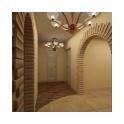 Визуально разграничить жилую, приватную и гостевую зоны дизайнерам удалось с помощью двух разных покрытий для пола.