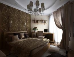 Как сделать комнату нестандартной формы уютной, функциональной, максимально комфортной? Нам удалось найти верное решение при создании дизайна этой многоугольной спальни с двумя дверями.