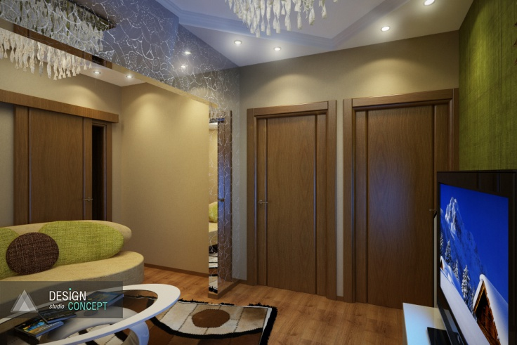 Стены в пастельных тонах, лаконичная мебель, стильные детали. Получился современный интерьер без излишеств, дополнительных украшений с опорой на функциональность, уют и кажущуюся простоту.