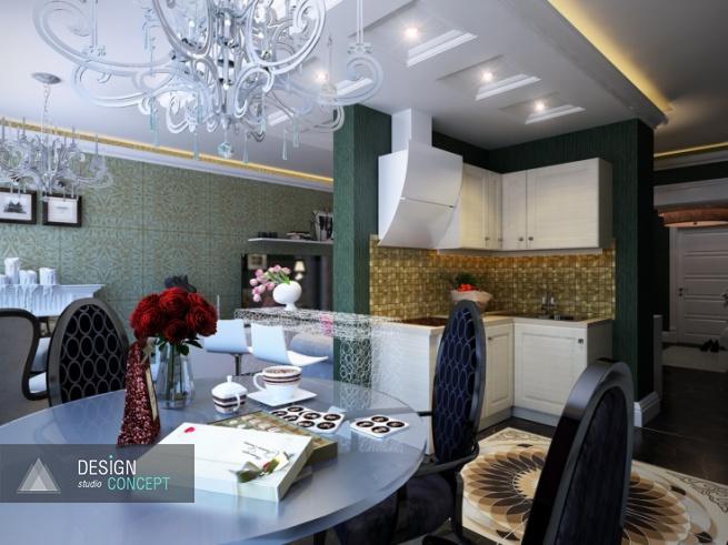 Благодаря новой планировке, в рамках одного помещения удалось создать три просторные и уютные функциональные зоны