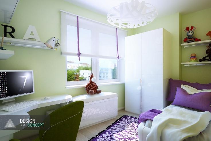 Особое внимание в оформлении интерьера детской было уделено расстановке мебели. Комната изначально небольшая, а необходимых предметов достаточно много.
