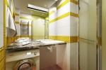 В новом, более просторном санузле нашлось место для стиральной машины